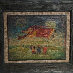 """Angel Above the Earth, Elena Patton, 11""""x13"""", framed, $95"""