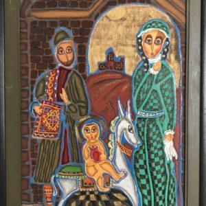 "The Road to Salvation, Arthur Amirkasanyan, 14""x23"", Oil on canvas, framed, $300"