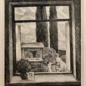"Fedor Klimenko, Granny, 17""x21"", Autolithography, $90"