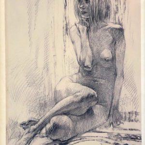 """Women #3, Oleg Zakomorny, 18""""x23"""", 2006, Printed copy 2/50, Signed by Author, $135"""