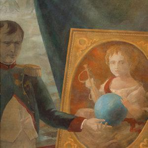 "Napoleon and Portrait, Igor Karash, Original paintings, Gouache on Fabriano paper are available per special request; Print, 13.75""x21.5"", Signed by Author, $175"