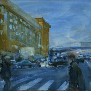 """Crosswalk, Olga Porter , 18""""x 24"""", Oil on Linen, $2100"""